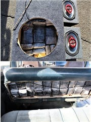 Narcotics officers found marijuana packages in a speaker box, a seat and other places in a van stopped March 5 in far East El Paso.