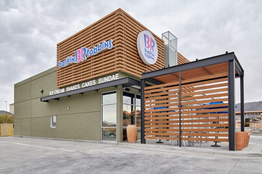 The new Baskin Robbins on the West Side features an updated design, that is a first for the state of Texas.