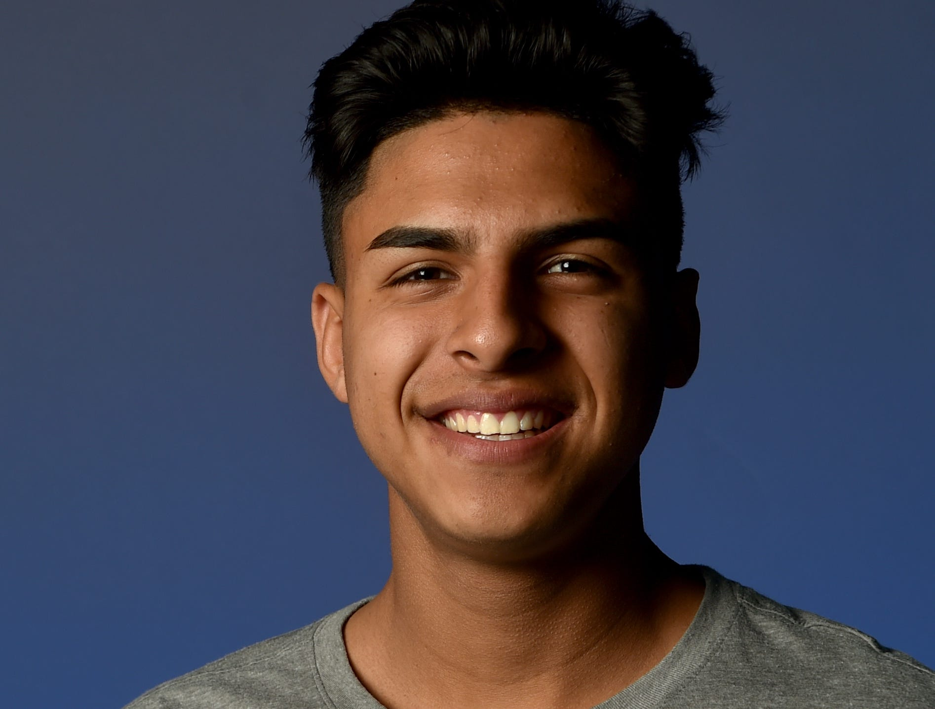"""OSCAR SALINAS, Hueneme: The 5-foot-6 senior was the creative forced for the Division I powerhouse Vikings, The first-team All-Citrus Coast League selection had three goals and 13 assists. He had two goals in the 3-0 win over Oxnard on Dec. 28 and an assist in the 3-0 win over Harvard-Westlake in the playoffs. Salinas plans to continue his soccer career at Oxnard College. He enjoys playing soccer """"all day."""" He roots for FC Barcelona and Argentine superstar Lionel Messi is his favorite athlete."""