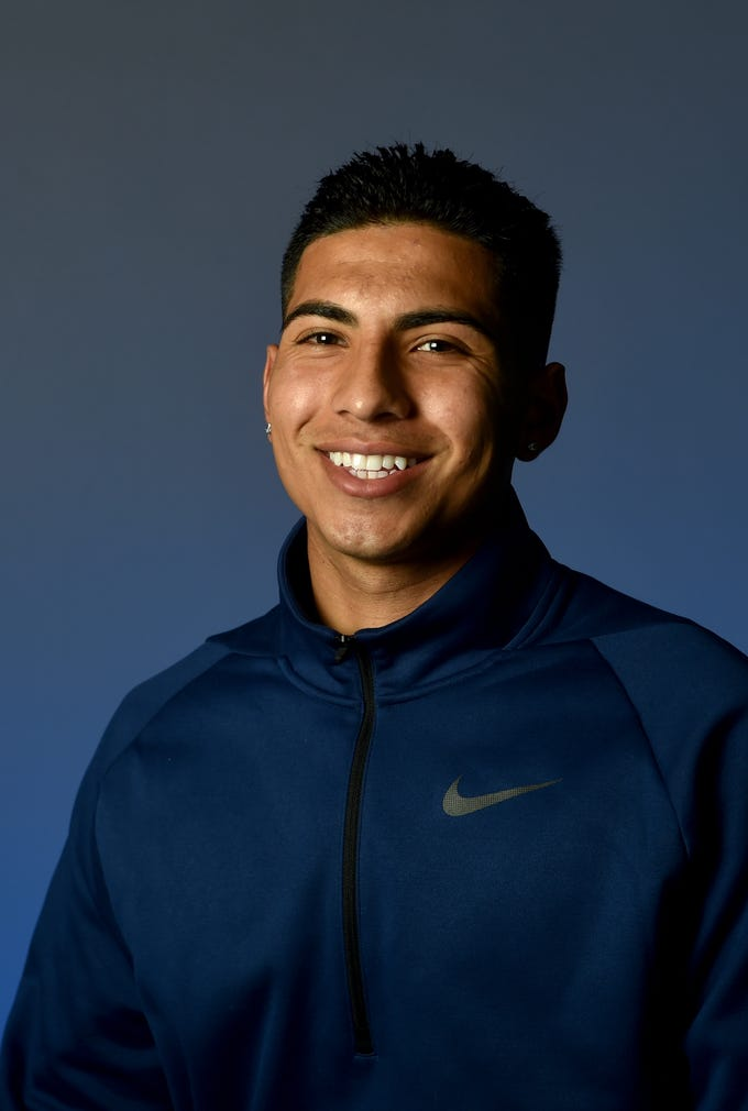 """ISAAC CARBAJAL, Santa Clara: One the most prolific attacking forces in Ventura County soccer history, the hulking 5-foot-10 striker completed his high school career with an incredible 97 goals and 45 assists. The Tri-Valley League Offensive Player of the Year had 21 goals and three assists as a senior. He had hat tricks against Grace Brethren and Cate and scored the late winner in the playoff win over Brentwood School. Carbajal was a first-team All-TVL selection all four years of his career. The 3.8 GPA student enjoys going to the gym. He watches """"Stranger Things,"""" listens to Quavo and eats pasta. Lionel Messi is his favorite athlete."""