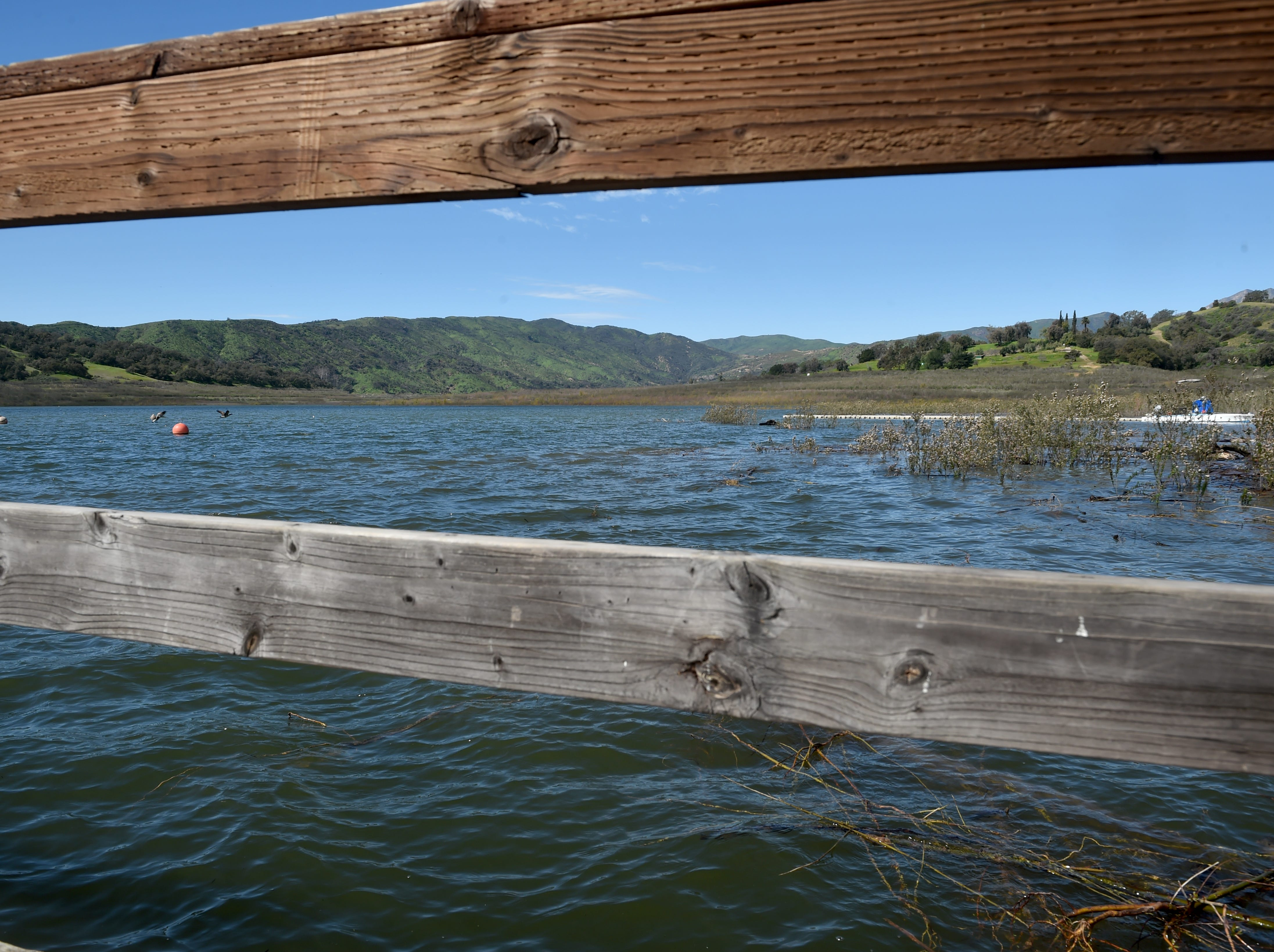 "This year's steady stream of storms have boosted water levels at Lake Casitas past the ""critical drought"" threshold. The lake is at 101,687 acre-feet or about 43 percent of its capacity."