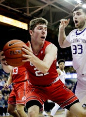 Oak Park High graduate Riley Battin has started 21 games for Utah in his freshman season, averaging 6.6 points and 3.4 rebounds per game.