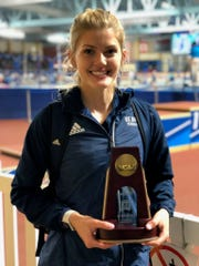 Buena High graduate Erinn Beattie, a senior at UC Davis, finished fourth in the women's pentathlon at the NCAA Indoor track and field championships in Birmingham, Ala., last Friday.