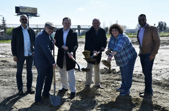 Groundbreaking ceremony at Valley Travel Plaza, located on the east side of Highway 99 at the Betty Drive exit, on Monday, March 11, 2019.