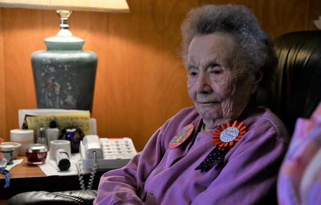 Sally Metzger celebrated her 100th birthday in Visalia on Tuesday, March 12.