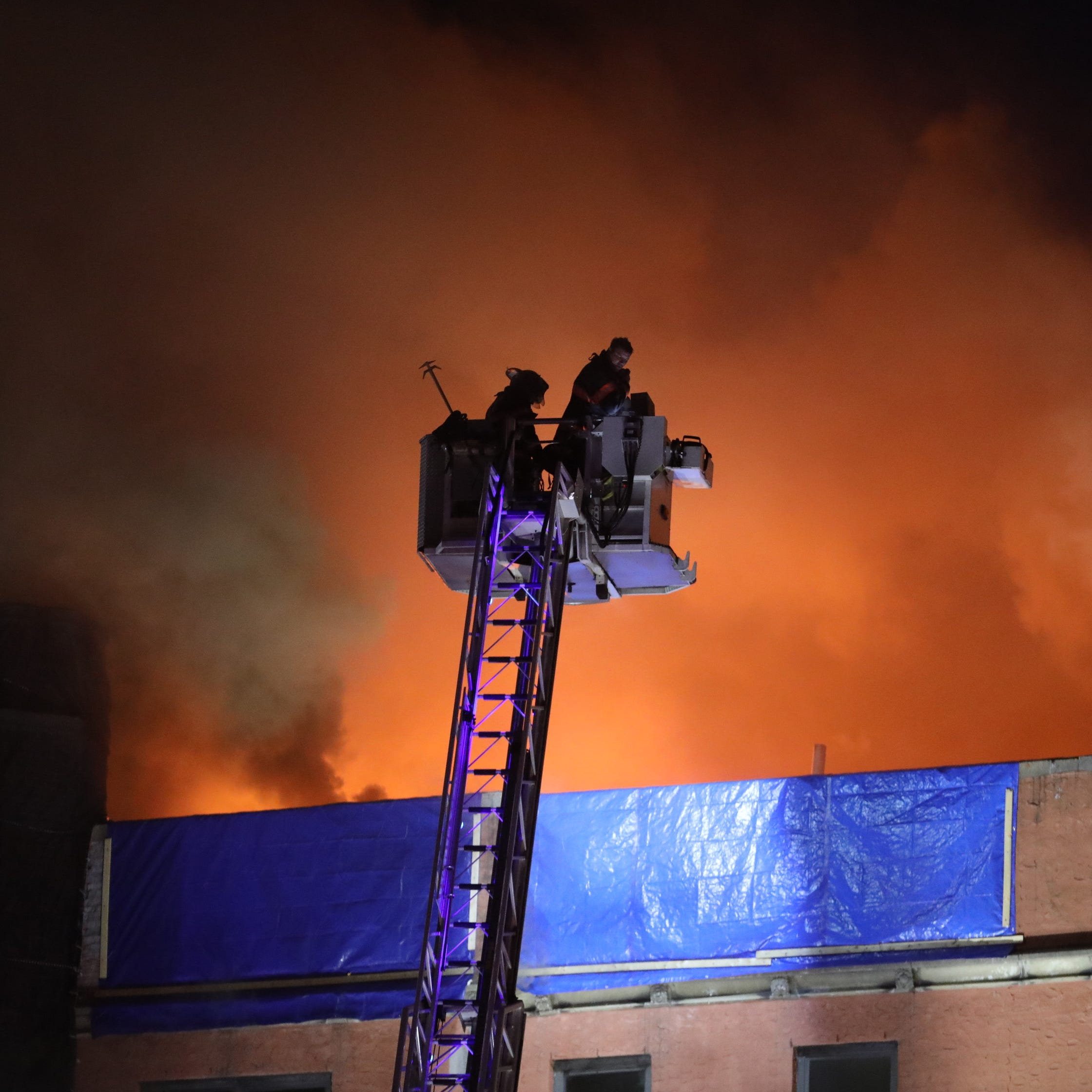 Firefighters battle general-alarm blaze near Yonkers-Bronxville border, estimated 150 displaced
