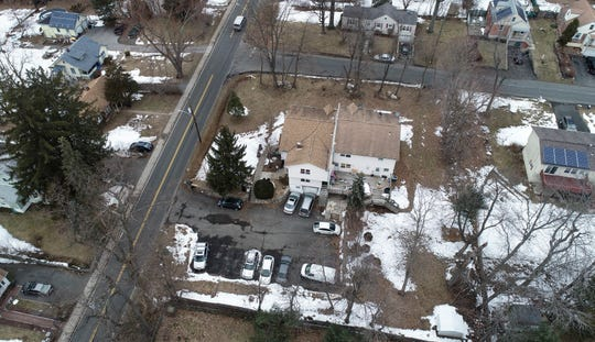 Aerial images of a house at 32 Hempstead Rd in Hillcrest on Tuesday, March 12, 2019.  Beginning in 2013, the Rockland County Illegal Housing Task Force had alerted the town of suspected violations at the house several times. After a 2017 town inspection, the landlord paid a $500 fine and the building was vacated, according to the Ramapo town attorneyÕs office.
