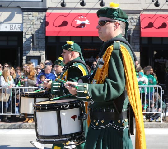 The Rockland County Ancient Order of the Hibernians  marches during the 22nd annual White Plains St. Patrick's Day parade along Mamaroneck Avenue in White Plains March 9, 2019.