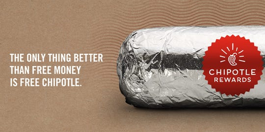 Chipotle partners with Venmo on ChipotleRewardMe.com to launch a loyalty program by giving away money.
