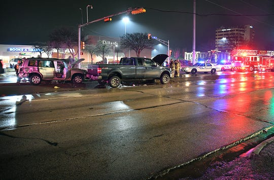 One person was seriously injured when their vehicle reportedly crashed into a Wichita Falls police vehicle Monday night. The pin-in accident happened around 8:57 p.m. in the 4000 block of Kemp Boulevard. According to a WFPD spokesperson, a Toyota Highlander was pulling out of the Sikes Senter parking lot on a red light when it was struck by a northbound police vehicle.