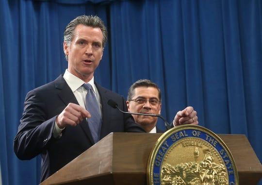 California Gov. Gavin Newsom, shown Feb. 15 in Sacramento, is an outspoken critic of President Donald Trump.