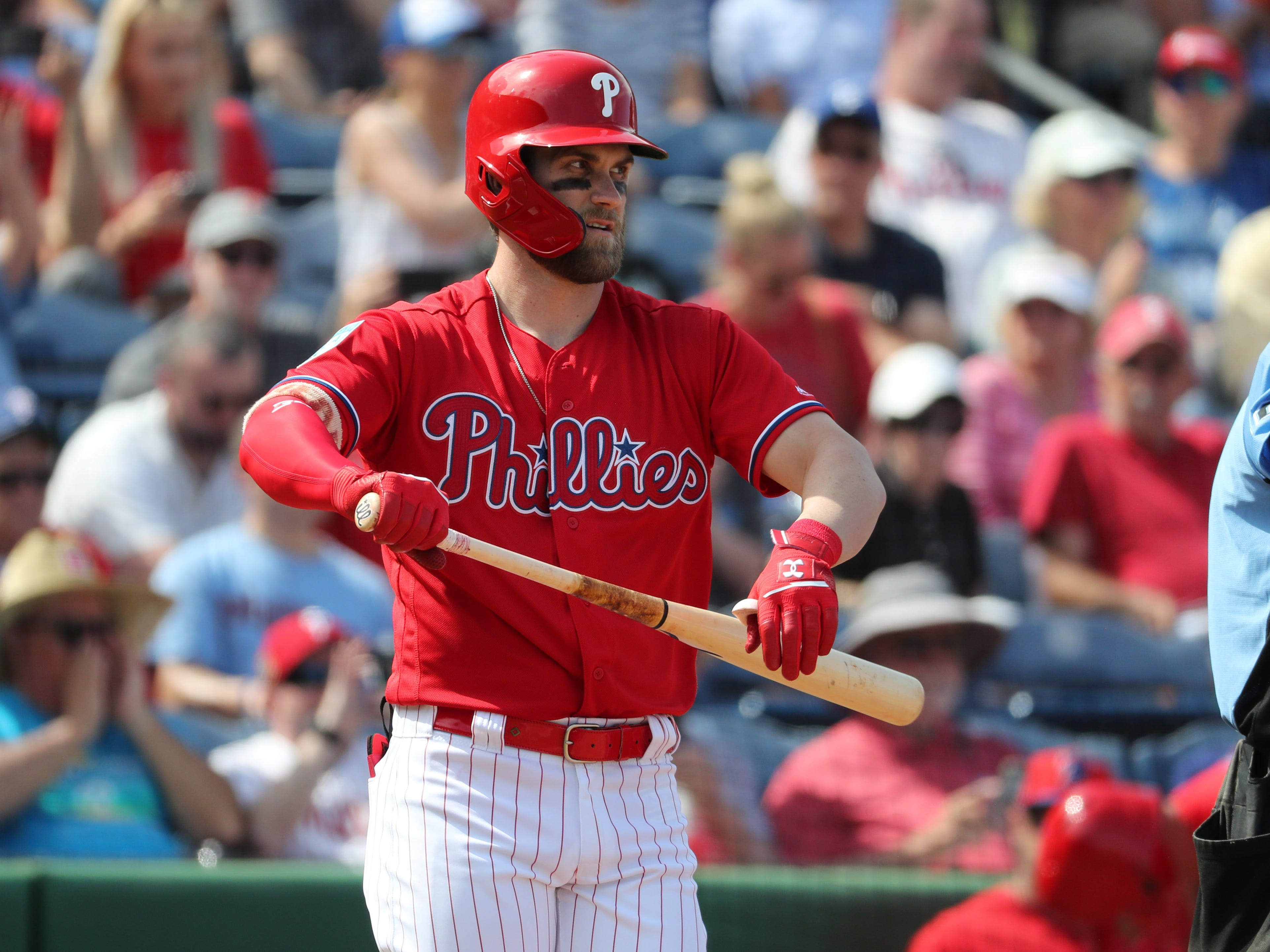 March 9: Bryce Harper makes his spring training debut with the Phillies.