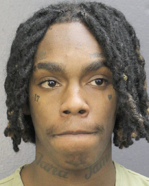 FT. LAUDERDALE, FL - FEBRUARY 13:  In this handout photo provided by the Broward's Sheriff's Office, rapper YNW Melly, real name Jamell Demons, is seen in a police booking photo after being charged with two counts of murder in the first degree February 13, 2019 in Ft. Lauderdale, Florida.  Demons allegedly conspired with Cortlen Henry to fatally shot two other Florida based rappers, Christopher Thomas Jr and Anthony Williams, October 26.  (Photo by Broward's Sheriff's Office via Getty Images) ORG XMIT: 775299452 ORIG FILE ID: 1124898851