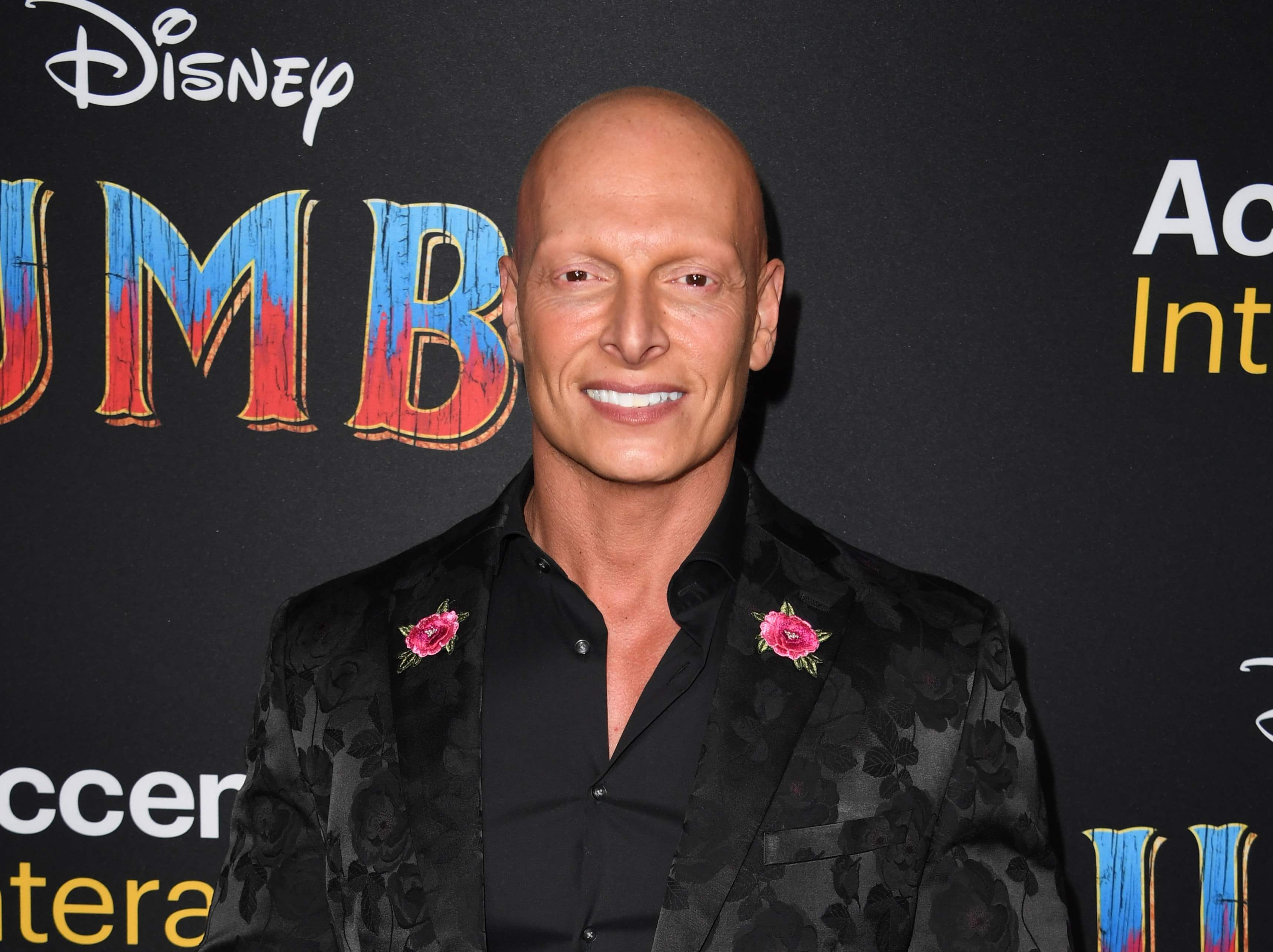 """British actor Joseph Gatt arrives for the world premiere of Disney's """"Dumbo"""" at El Capitan theatre on March 11, 2019 in Hollywood. (Photo by Robyn Beck / AFP)ROBYN BECK/AFP/Getty Images ORG XMIT: Premiere ORIG FILE ID: AFP_1EI144"""