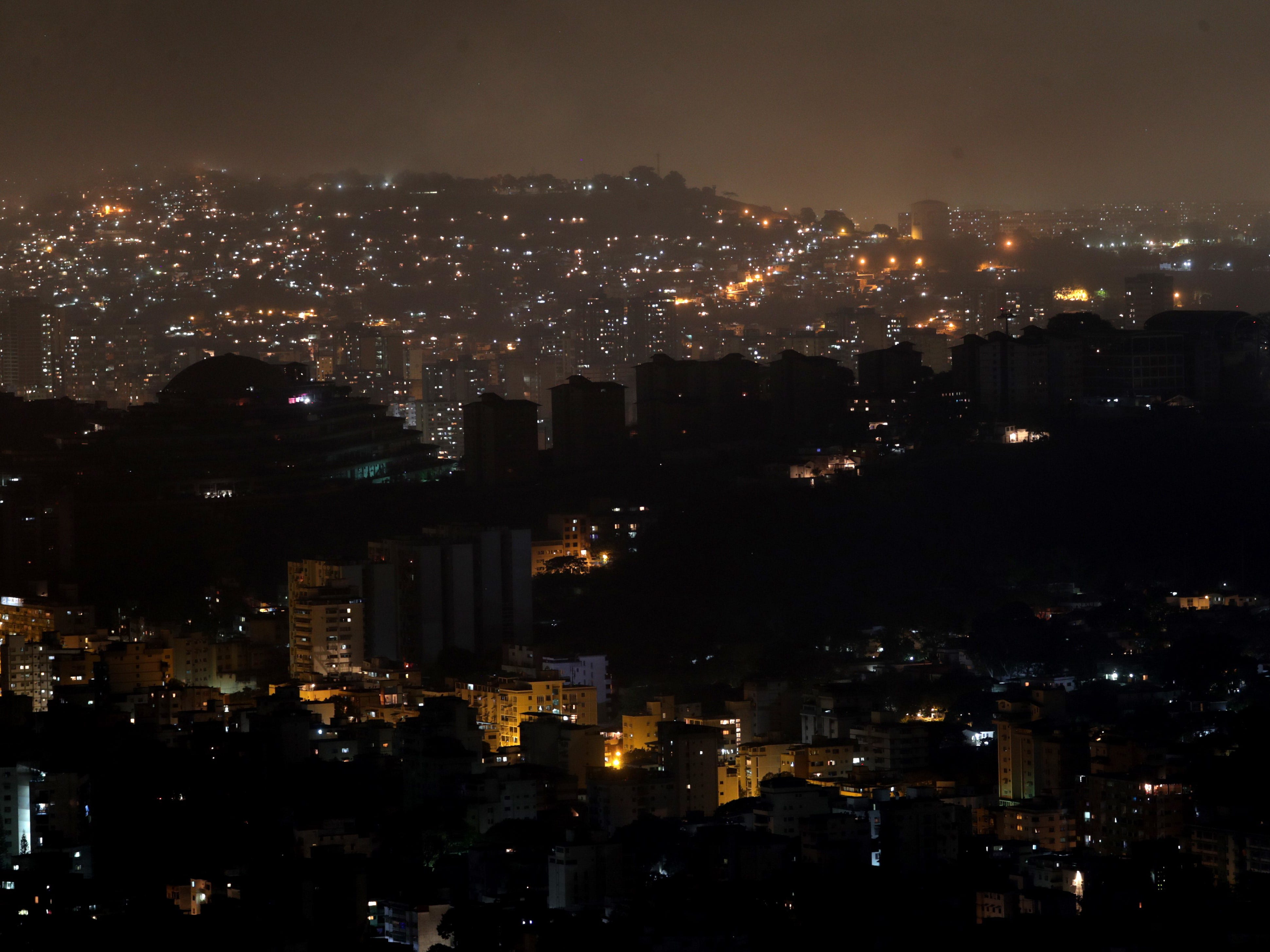 View of Caracas on March 10, 2019 during the blackout.