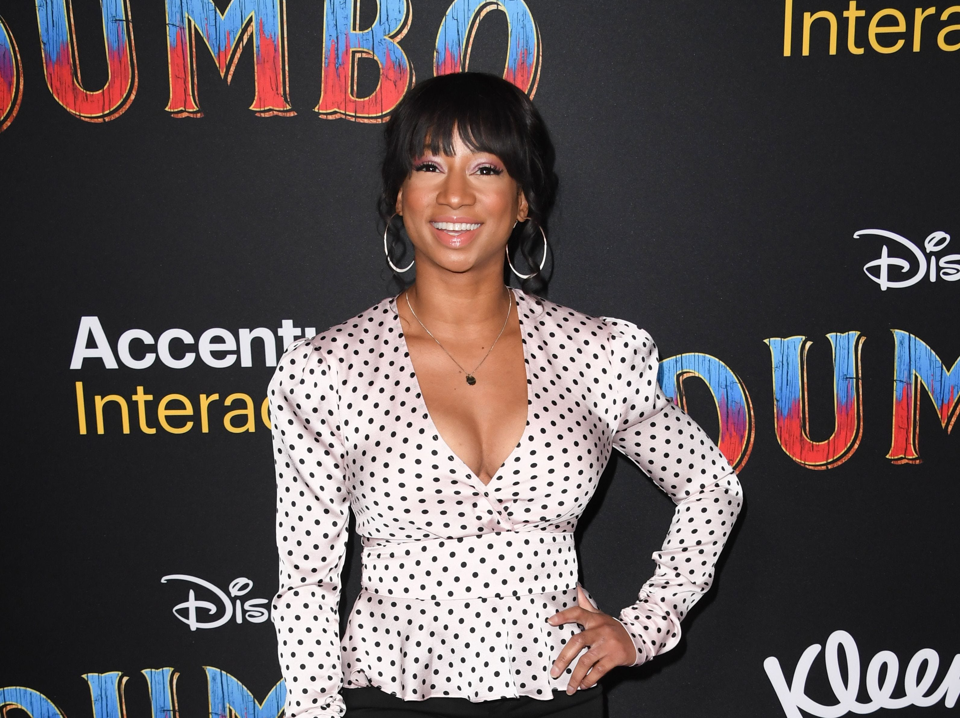 """US actress Monique Coleman arrives for the world premiere of Disney's """"Dumbo"""" at El Capitan theatre on March 11, 2019 in Hollywood. (Photo by Robyn Beck / AFP)ROBYN BECK/AFP/Getty Images ORG XMIT: Premiere ORIG FILE ID: AFP_1EI2K1"""