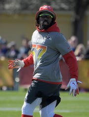 Ravens linebacker C.J. Mosley shown during AFC practice at ESPN Wide World of Sports Complex.