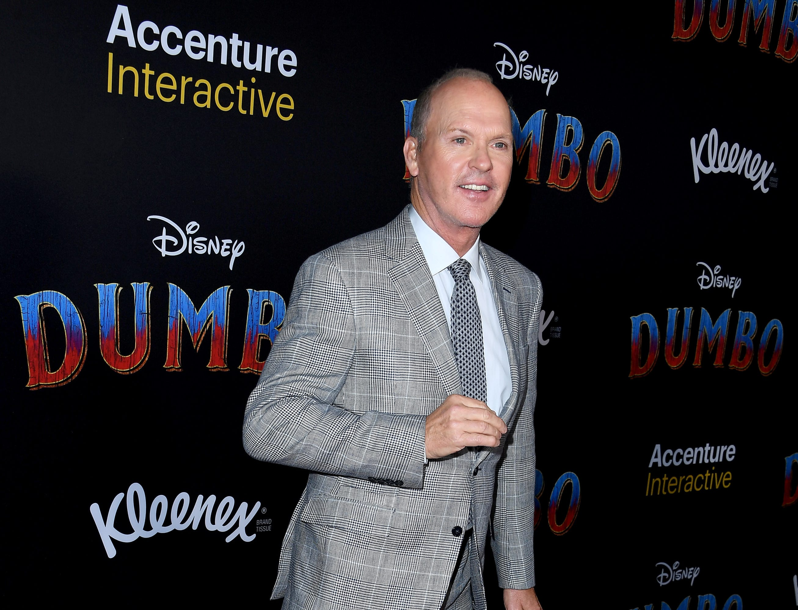 """LOS ANGELES, CALIFORNIA - MARCH 11: Michael Keaton attends the premiere of Disney's """"Dumbo"""" at El Capitan Theatre on March 11, 2019 in Los Angeles, California. (Photo by Steve Granitz/WireImage) ORG XMIT: 775305572 ORIG FILE ID: 1135217563"""