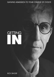 "The cover of Rick Singer's self-published book, ""Getting In: Gaining Admission To Your College of Choice,"" published in 2014"