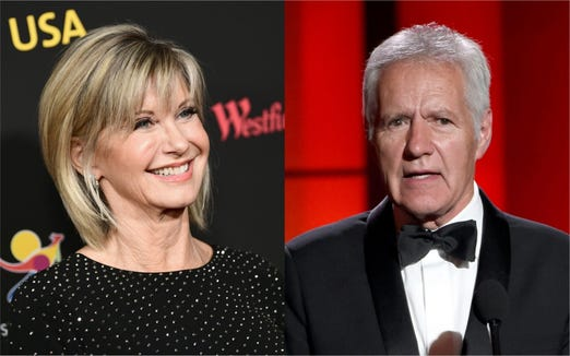 Olivia Newton-John had some words of encouragement for Alex Trebek, who recently announced his cancer diagnosis.