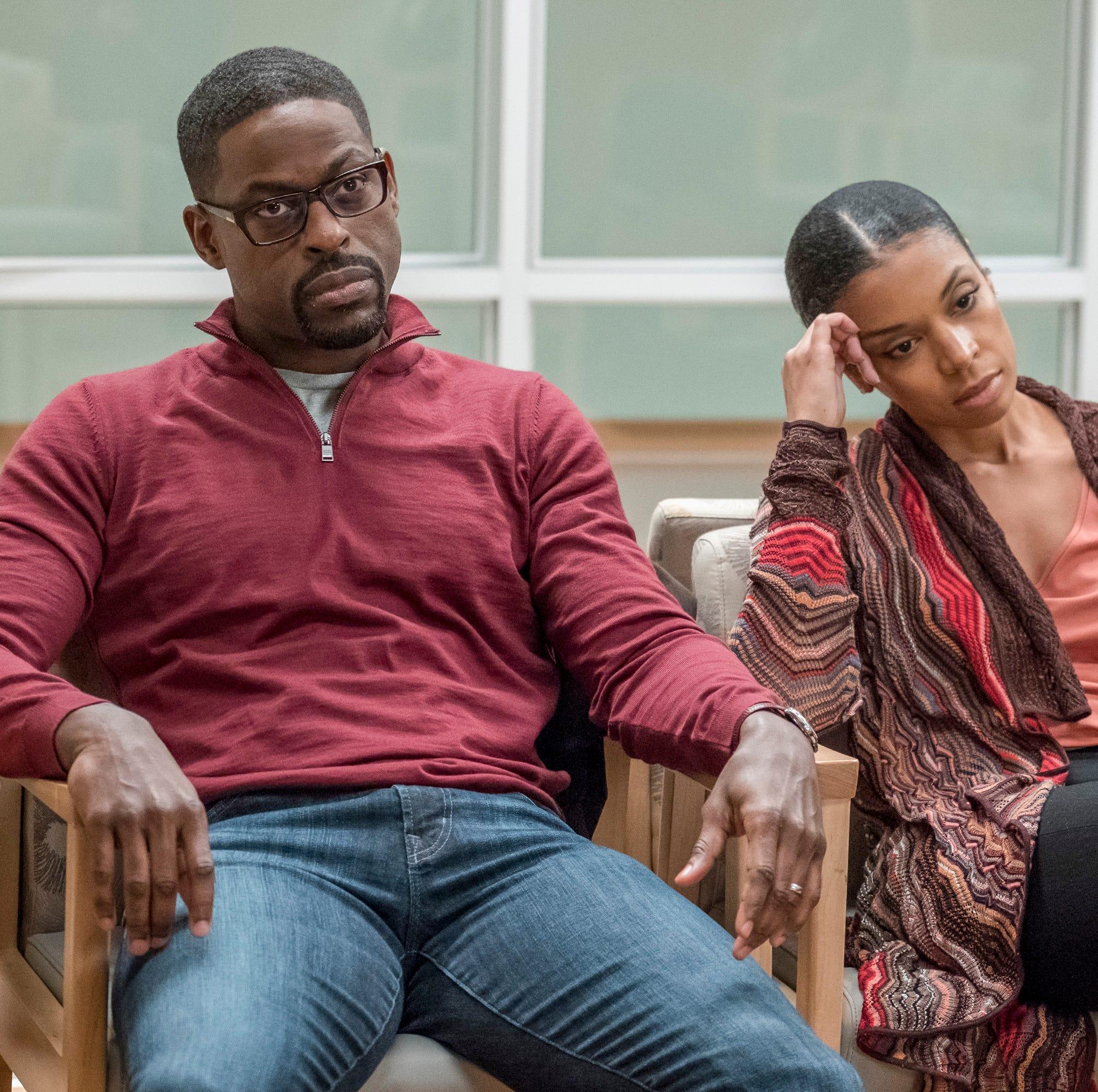 "Sterling K. Brown as Randall, Susan Kelechi Watson as Beth on ""This Is Us."""