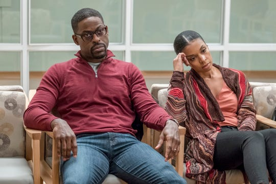 "Sterling K. Brown as Randall, Susan Kelechi Watson as Beth on ""This Is Us."""