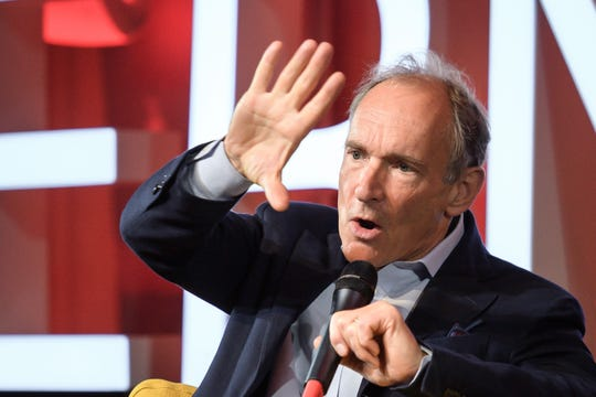 World Wide Web inventor Tim Berners-Lee attends an event to mark 30 years of World Wide Web, on Monday at the CERN in Meyrin near Geneva.