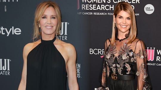 VIDEO THUMB  - Lori Loughlin, Felicity Huffman charged in college bribe scandal