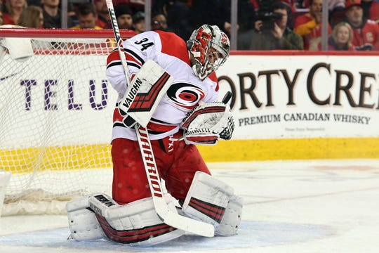 Carolina Hurricanes goalie Petr Mrazek has three shutouts in his last eight starts.