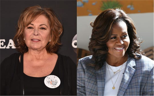 Roseanne Barr is accusing Michelle Obama of getting her fired from ABC last May.