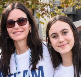 Courteney Cox shared a video of her daughter singing on stage with Snow Patrol.
