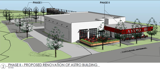 Renderings of the planned Magnetic South Brewery