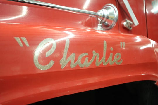 """""""Charlie,"""" a Ford L9000 2,500-gallon pumper tanker truck that served the Holiday Village Fire District since it was bought new for $145,000 in 1992, was donated Wednesday to the Grant Parish Fire District #5."""