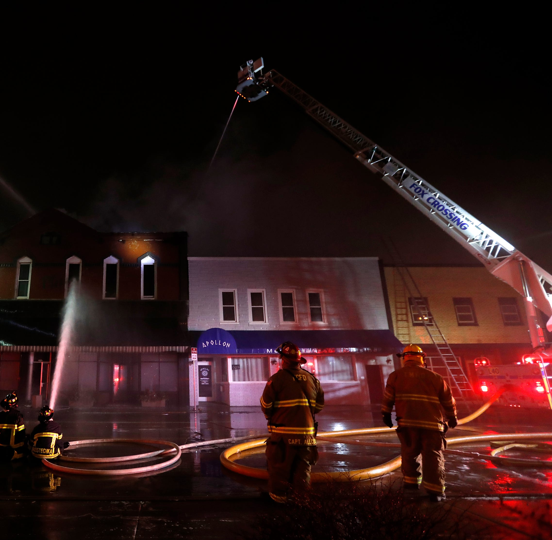 Eight residents evacuated from fire in Author's Kitchen + Bar building in downtown Appleton