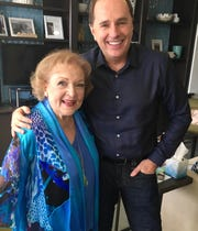 Appleton native Steve Boettcher, right, with legendary actress Betty White.