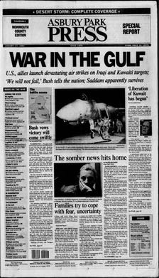 """The United States and its allies begin """"Operation Desert Storm"""" to force Iraq out of Kuwait on Thursday, Jan. 17, 1991."""