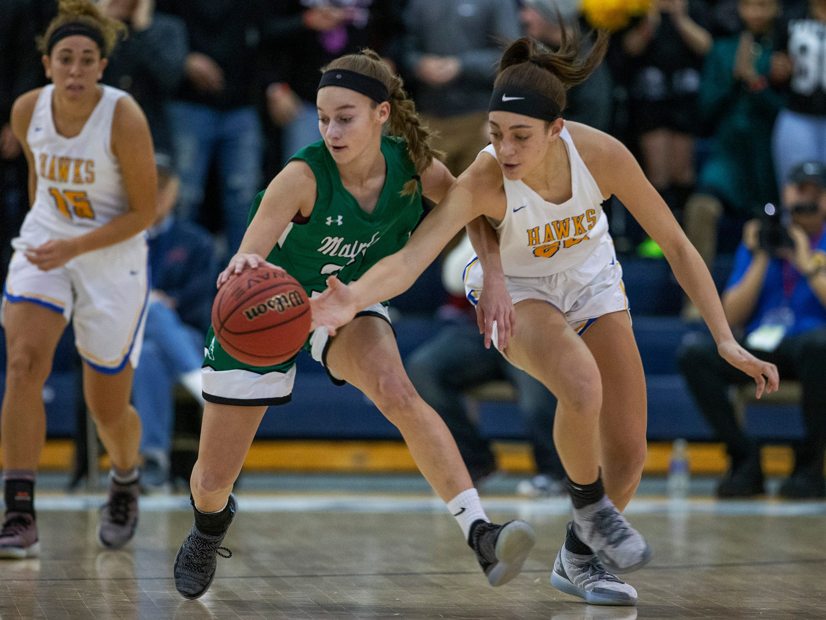 Manchester Girls Basketball vs Mainland in Tournament of Champions opening round game in Toms River on March 12, 2019