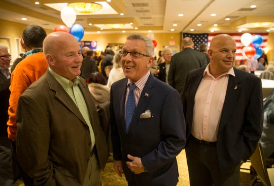 The Ocean County Republican Party holds its nominating convention at the Days Hotel by Wyndham in Toms River. Brick Councilman John Catalano, center, waits to hear if he will receive the endorsement for state Assembly in the 10th Legislative District.  