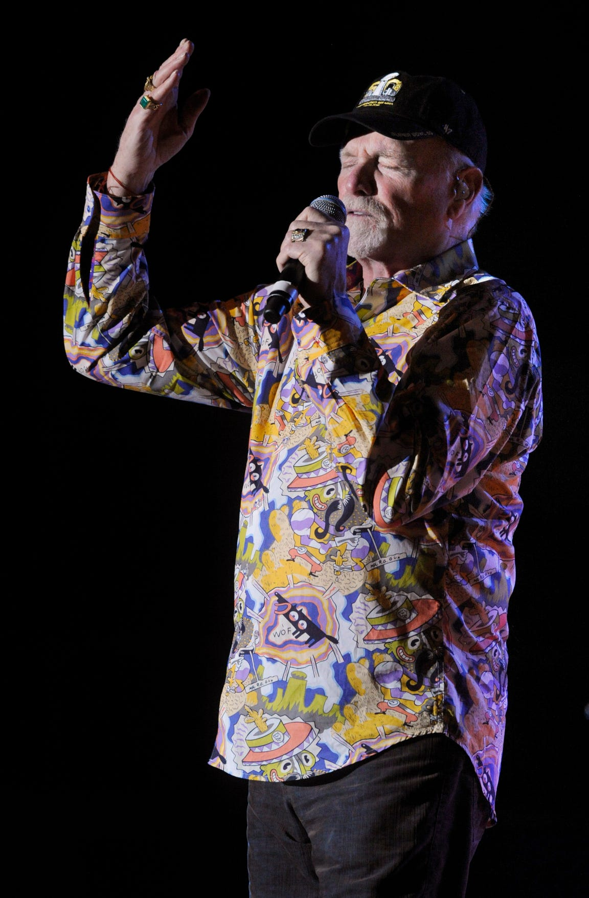 Mike Love of the Beach Boys performs  at the Taylor County Expo Center on March 6, 2016. Love said he enjoys smaller market shows because fans are appreciative and enthusiastic to have the guys in town.