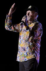 Mike Love of the Beach Boys performs with the band at the Taylor County Expo Center in March 2016.
