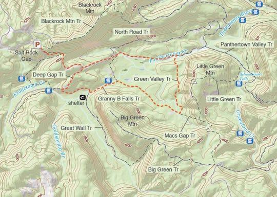 Map of Panthertown Valley