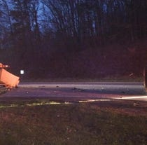 No students injured in an early morning school bus accident