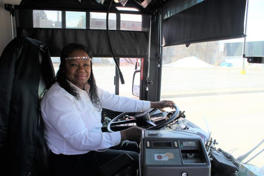 Cynthia Williams has been driving buses for Battle Creek Transit for 29 years. She says public transit is needed for people's livelihood.