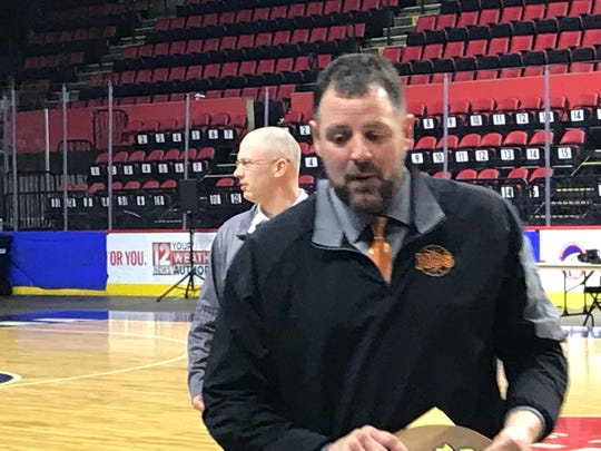 Coach Jim Holland guided Marathon to a 66-60 victory over Bridgehampton on Sunday in a Class D state quarterfinal at Floyd L. Maines Veterans Memorial Arena.