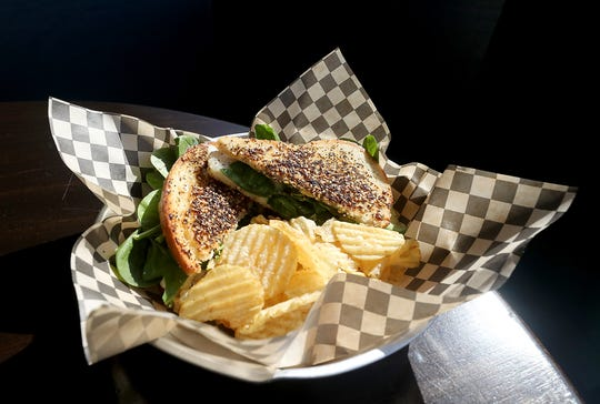 "An ""Everything Grilled Cheese"" sandwich at The Manette Daily in Bremerton."