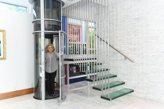 Miami-based Pneumatic Vacuum Elevators makes air-driven home elevators that do not require any pre-construction shaft.