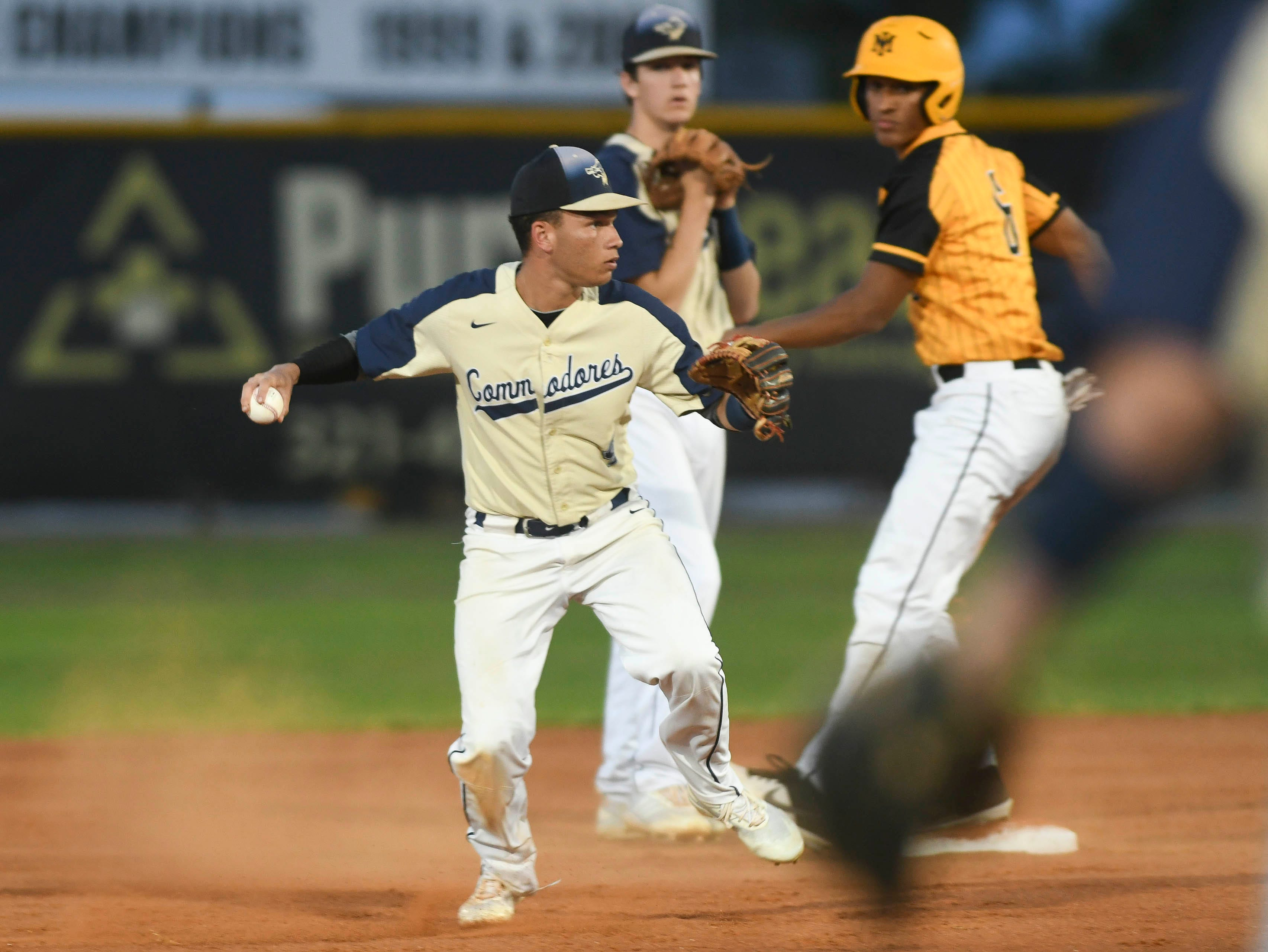Luis Merced of Eau Gallie looks to make a play during Tuesday's game in Merritt Island