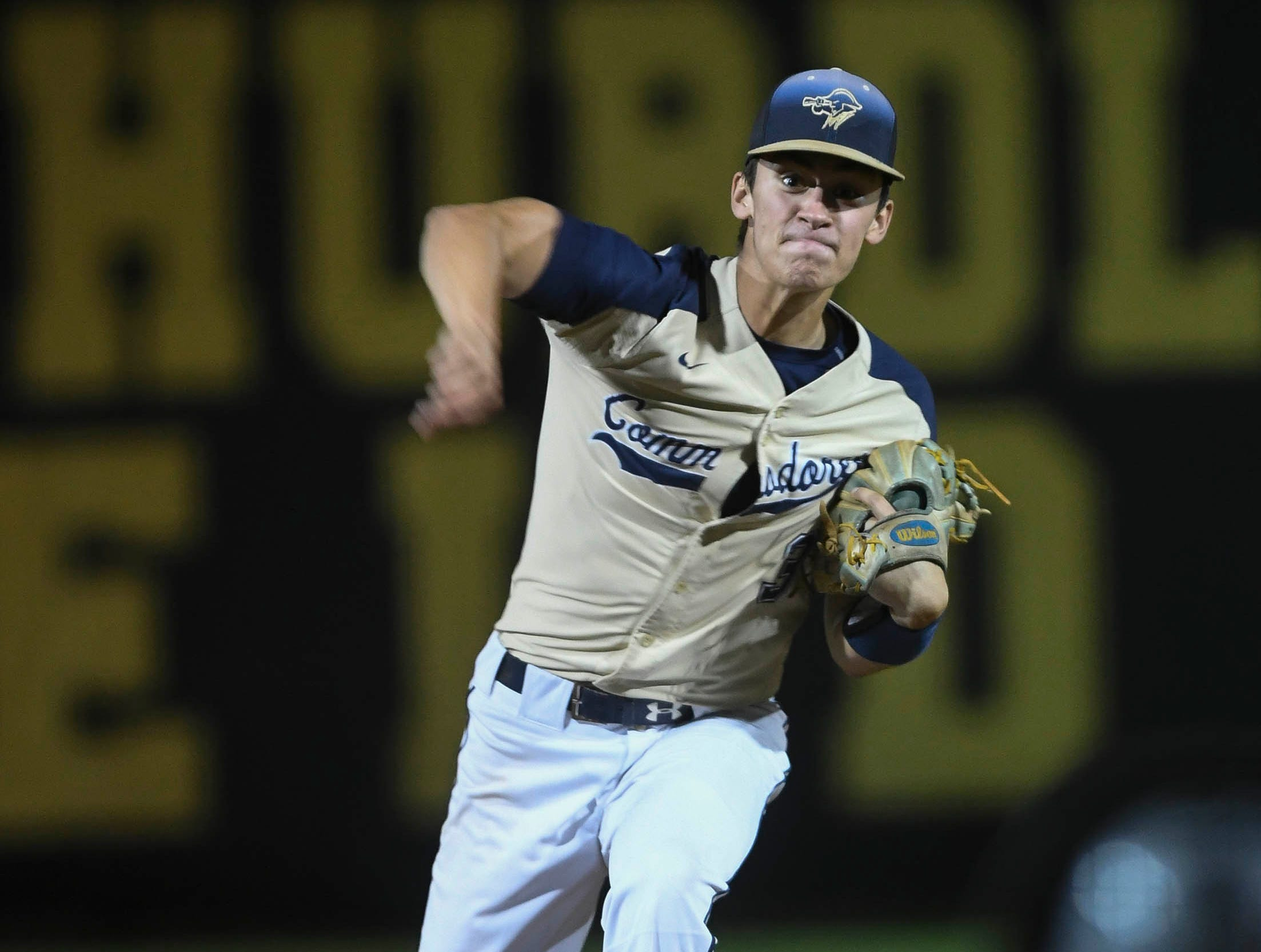 Trey Jackson of Eau Gallie pitches during Tuesday's game in Merritt Island