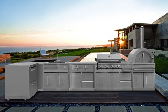Thor Kitchen has a new eight-piece Modular Outdoor Kitchen Suite that offers homeowners the flexibility to place the appliances in any configuration without the built-in costs.