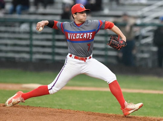 Gregory-Portland faces Calallen in a baseball game, Tuesday, March 12, 2019, in Calallen. Calallen won in a walk-off in the eighth inning, 2-1.
